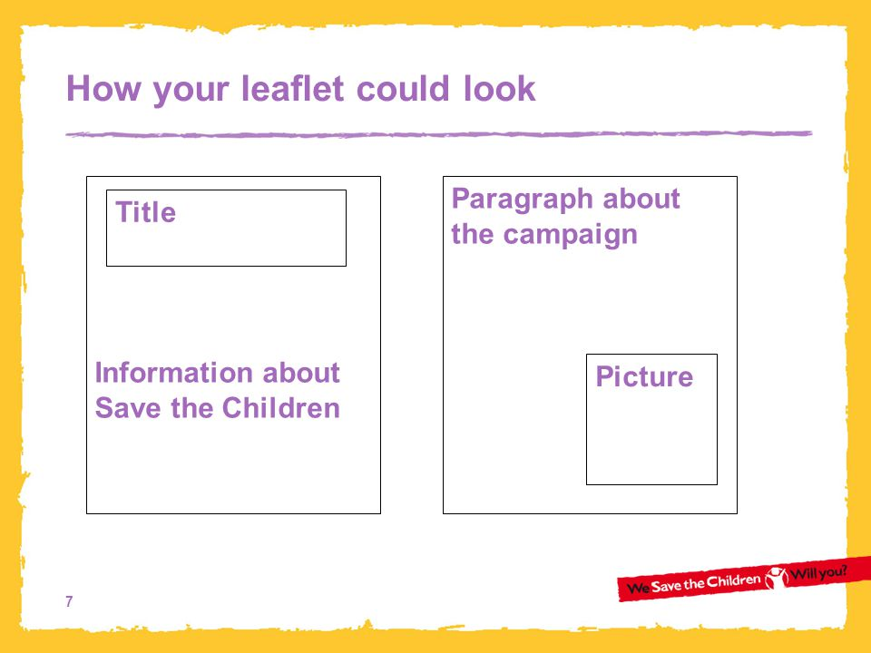 How your leaflet could look