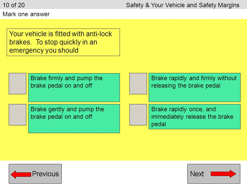 10 of 20 Safety & Your Vehicle and Safety Margins