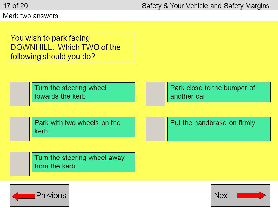 17 of 20 Safety & Your Vehicle and Safety Margins