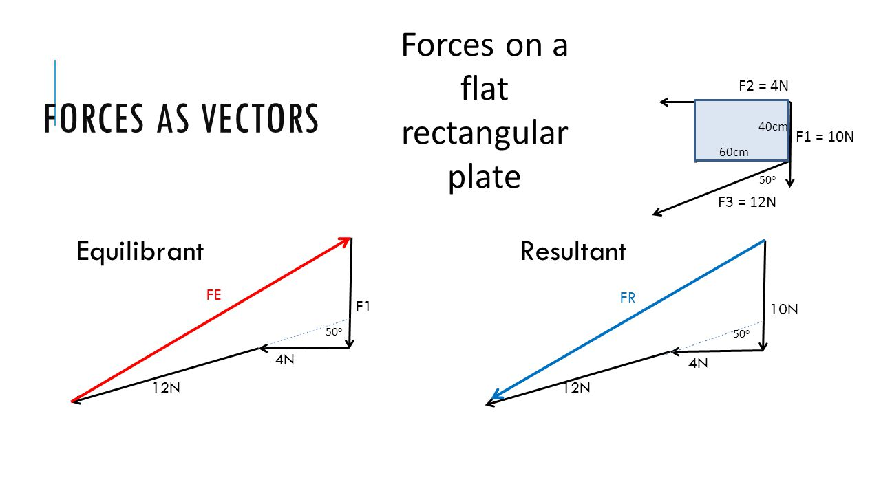 Forces on a flat rectangular plate