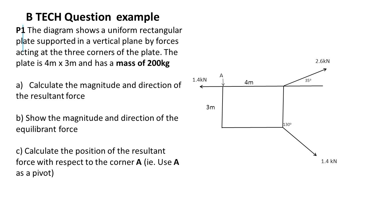 B TECH Question example