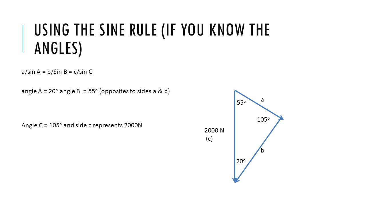 Using the sine rule (if you know the angles)