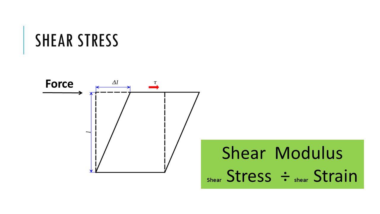 Shear Stress ÷ shear Strain