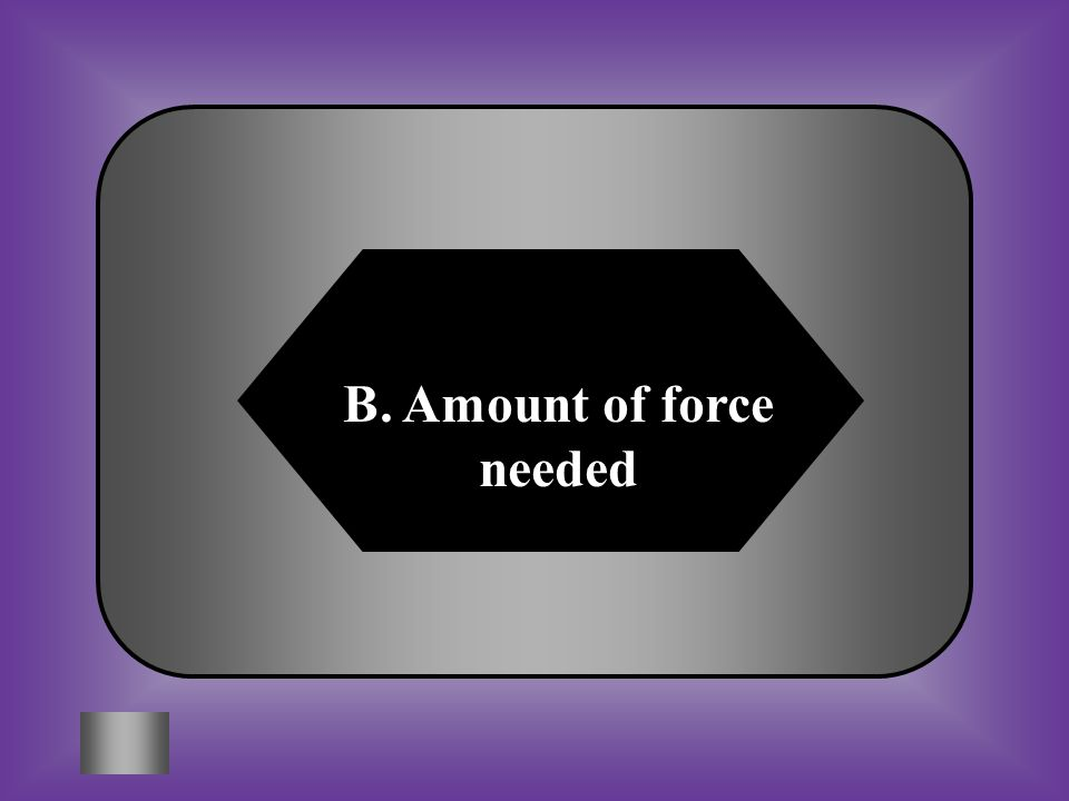B. Amount of force needed