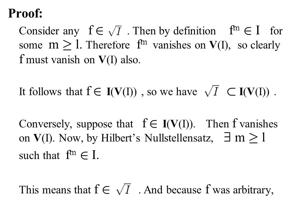 This means that f 2 . And because f was arbitrary,