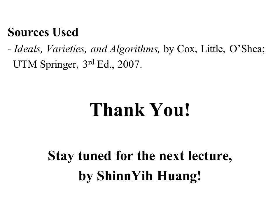 Stay tuned for the next lecture,