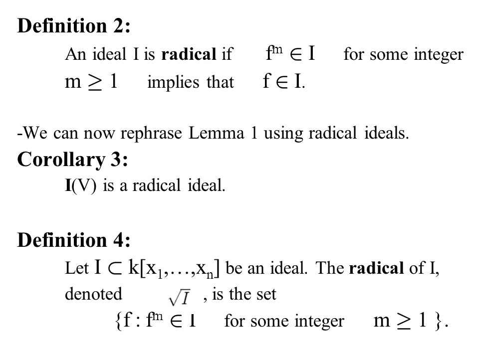 {f : fm 2 I for some integer m ¸ 1 }.