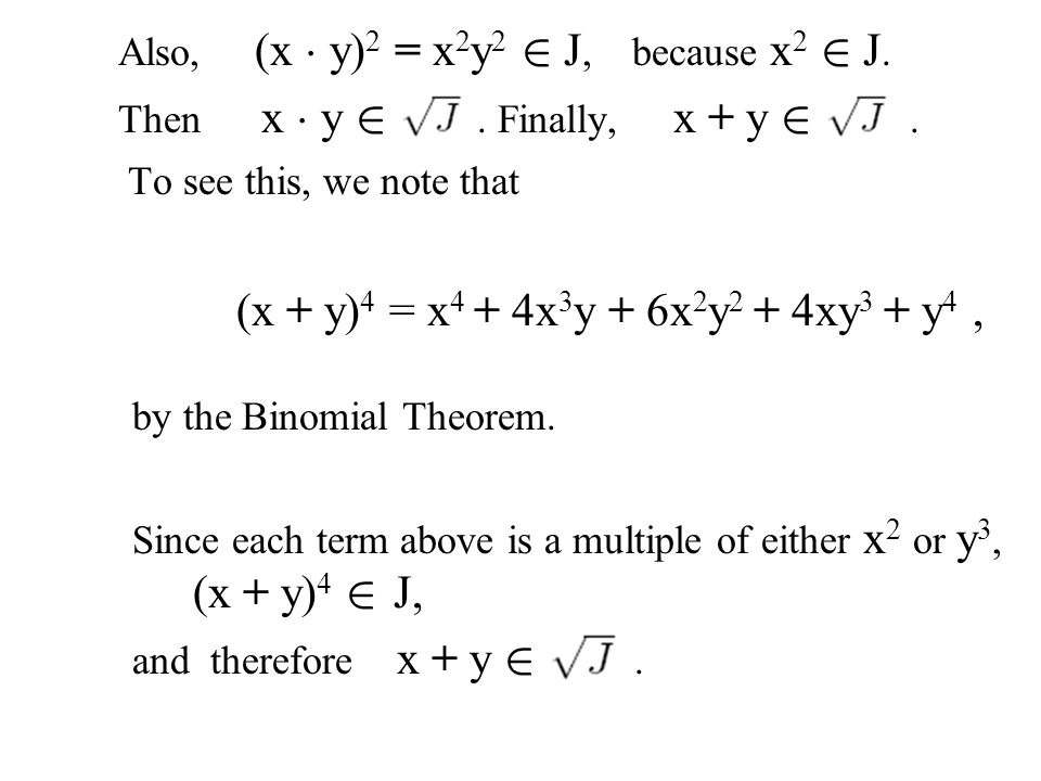 by the Binomial Theorem.