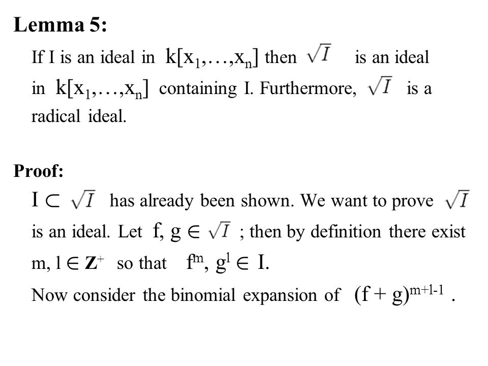 Now consider the binomial expansion of (f + g)m+l-1 .