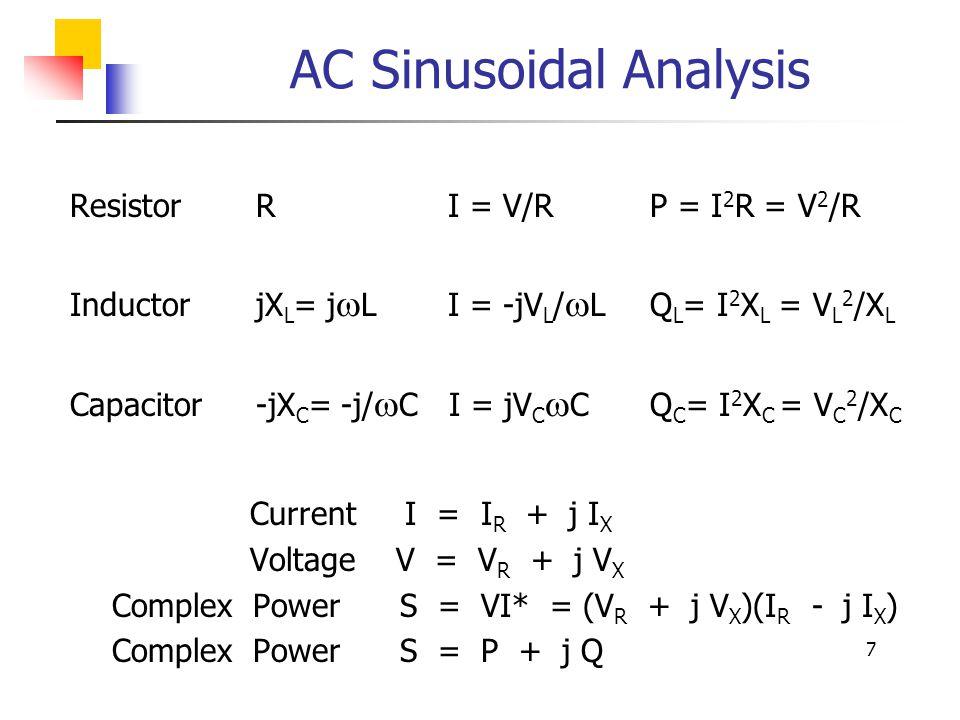 AC Sinusoidal Analysis
