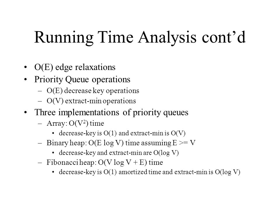 Running Time Analysis cont'd