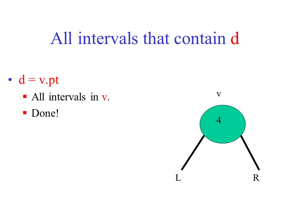 All intervals that contain d