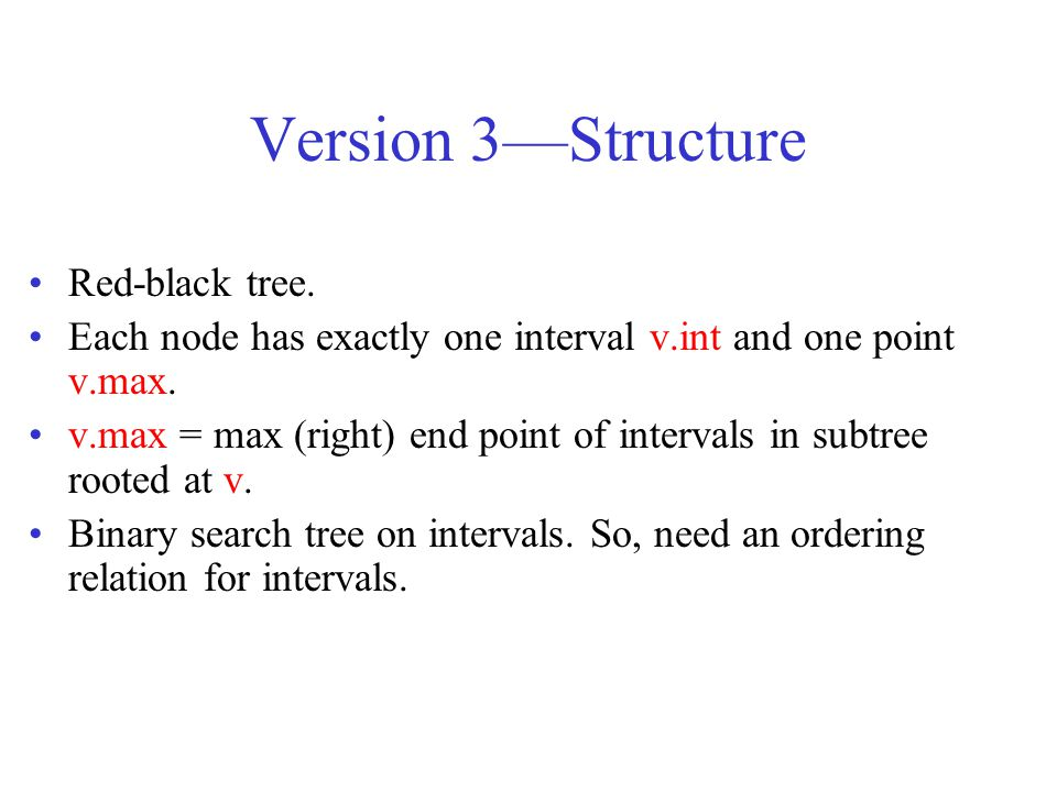 Version 3—Structure Red-black tree.
