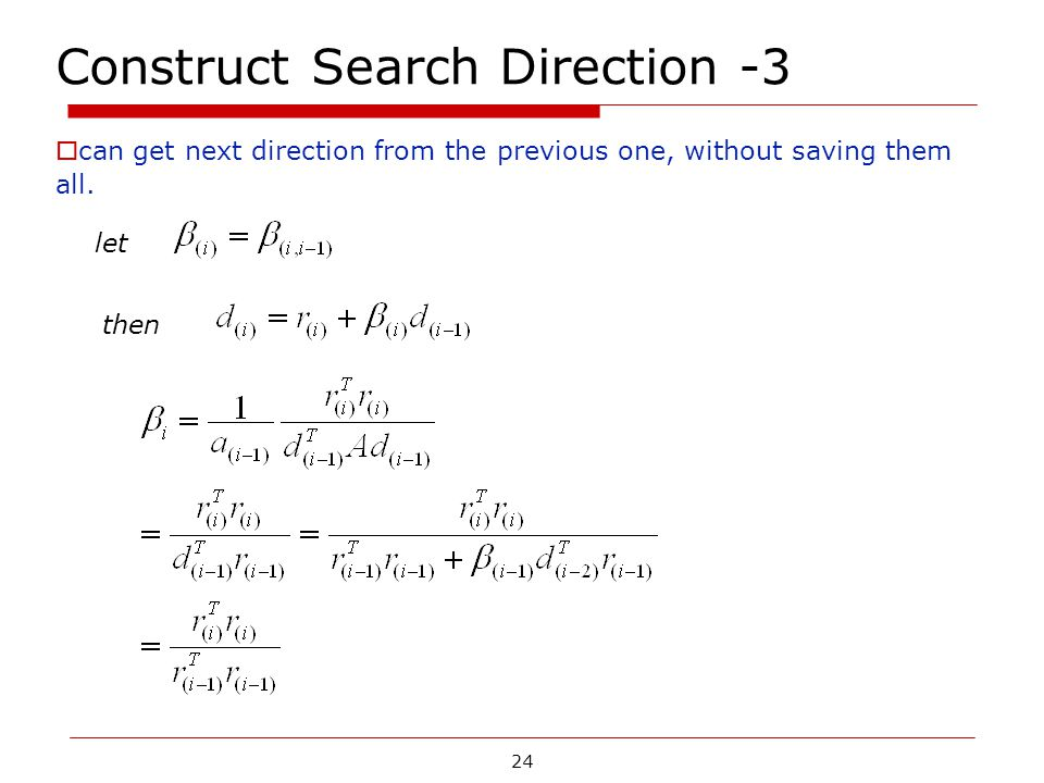 Construct Search Direction -3