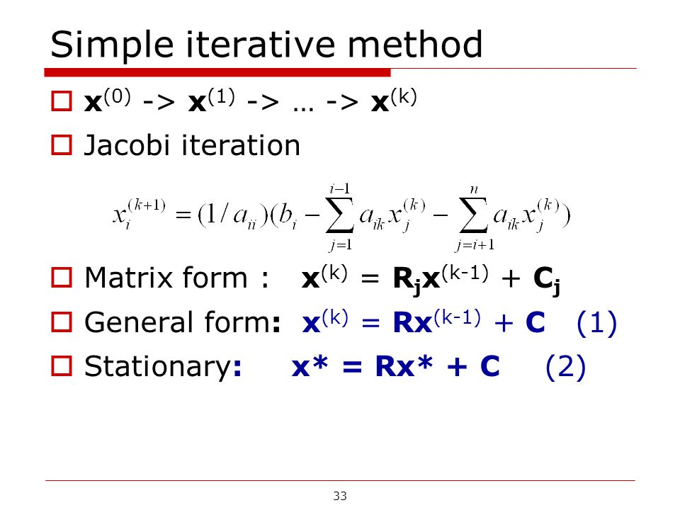 Simple iterative method