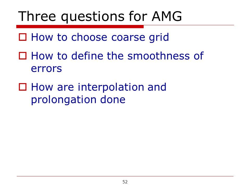 Three questions for AMG