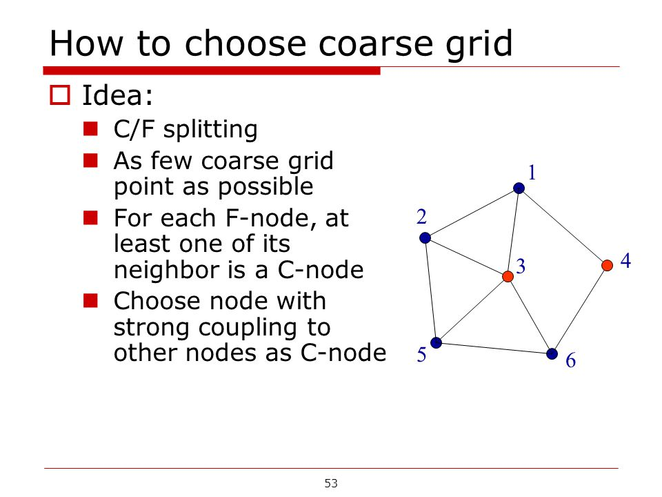 How to choose coarse grid