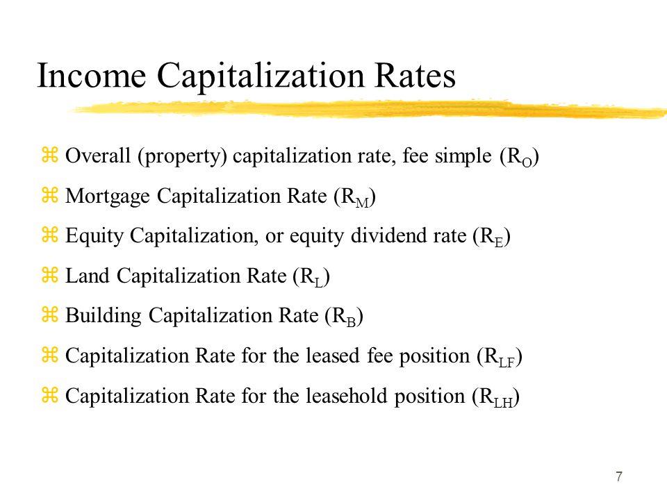 Income Capitalization Rates
