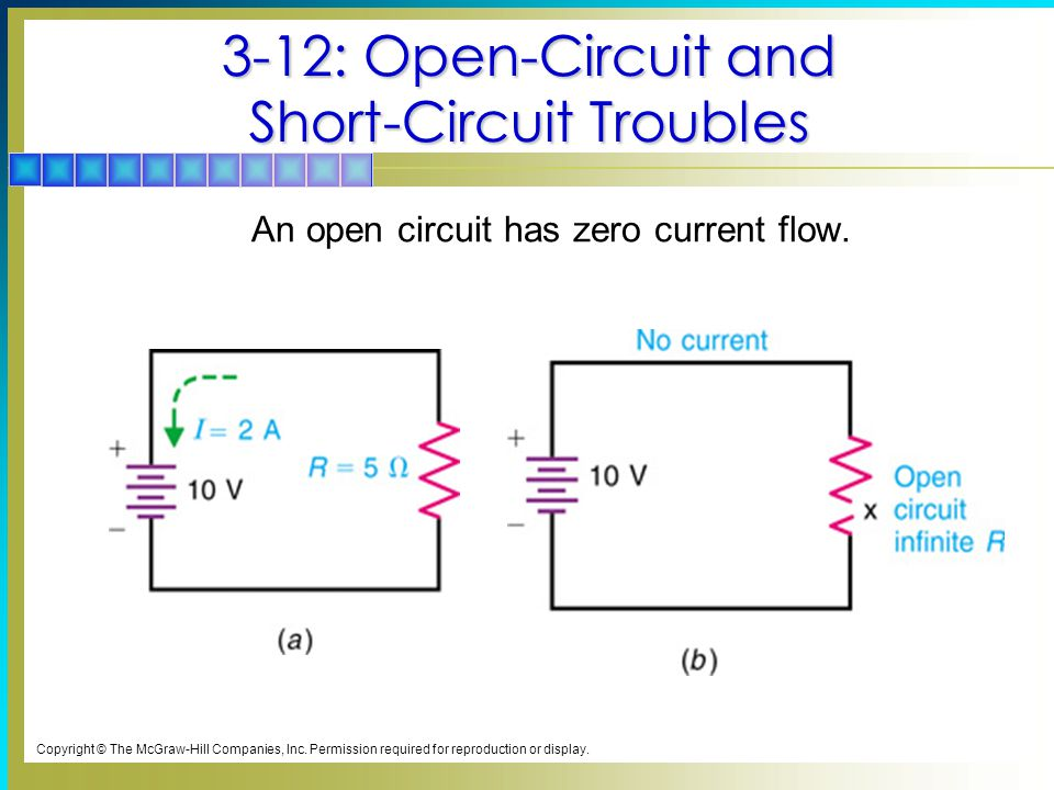 3-12: Open-Circuit and Short-Circuit Troubles