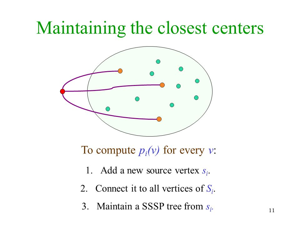 Maintaining the closest centers
