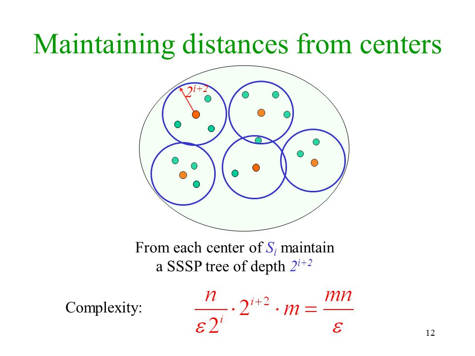 Maintaining distances from centers