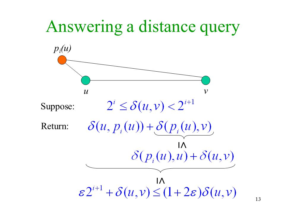 Answering a distance query