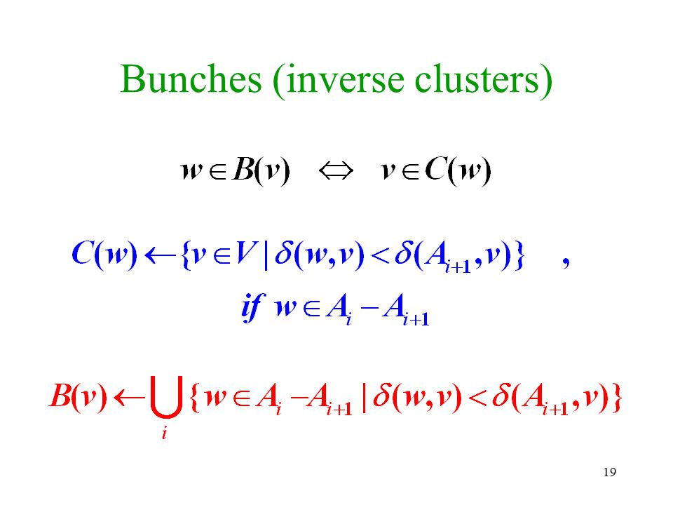 Bunches (inverse clusters)