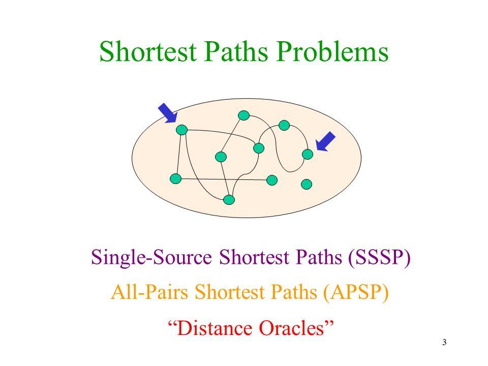 Shortest Paths Problems
