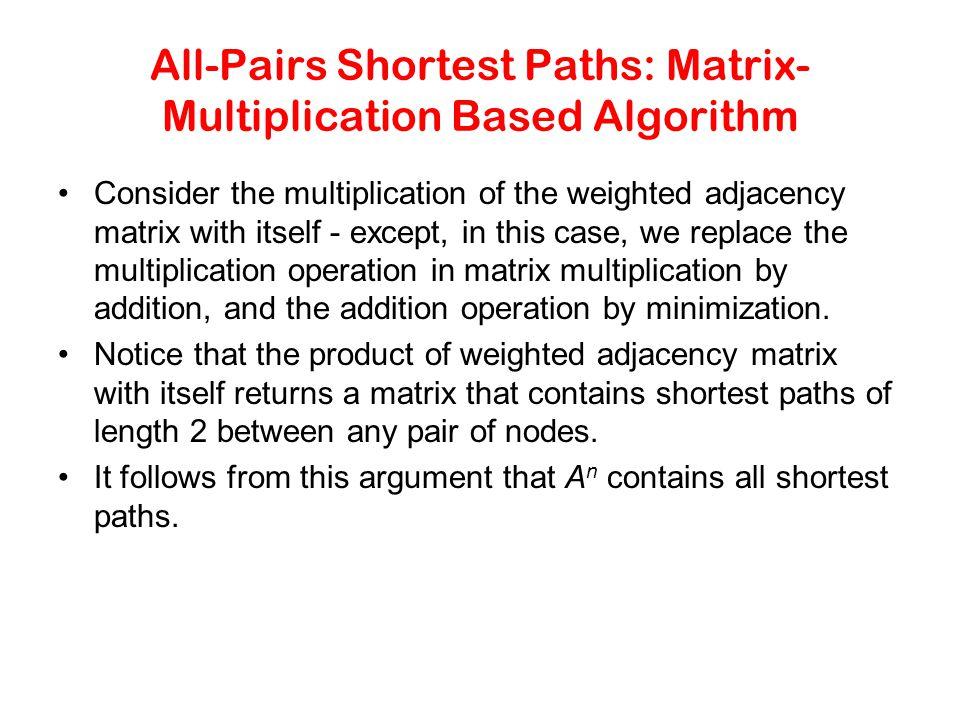 All-Pairs Shortest Paths: Matrix-Multiplication Based Algorithm