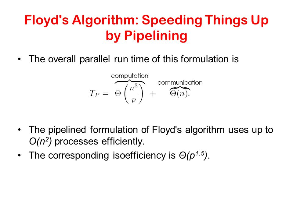 Floyd s Algorithm: Speeding Things Up by Pipelining