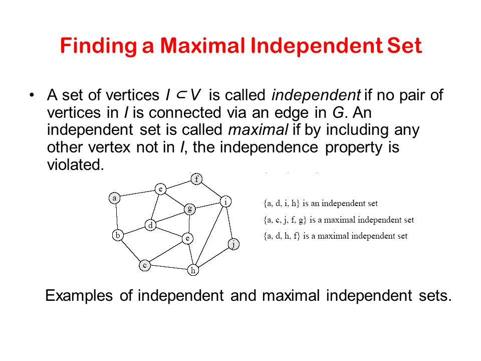 Finding a Maximal Independent Set