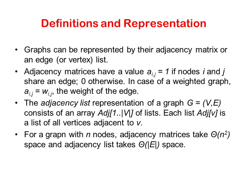 Definitions and Representation