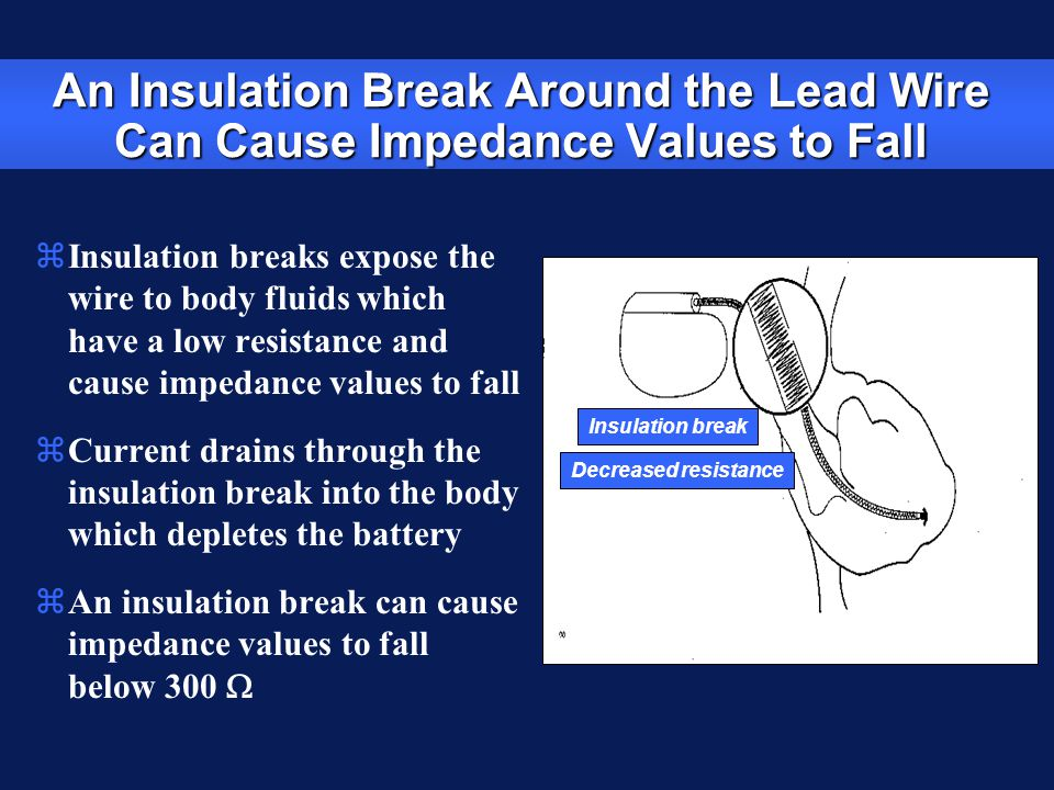 An Insulation Break Around the Lead Wire Can Cause Impedance Values to Fall