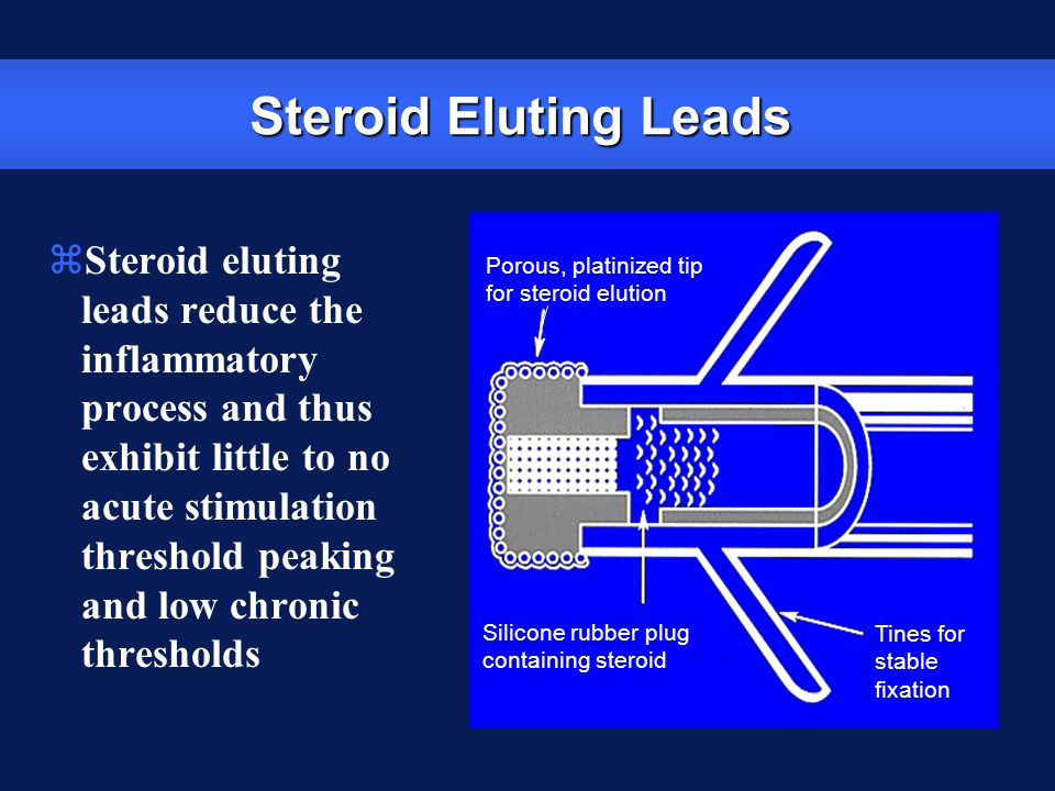 Steroid Eluting Leads