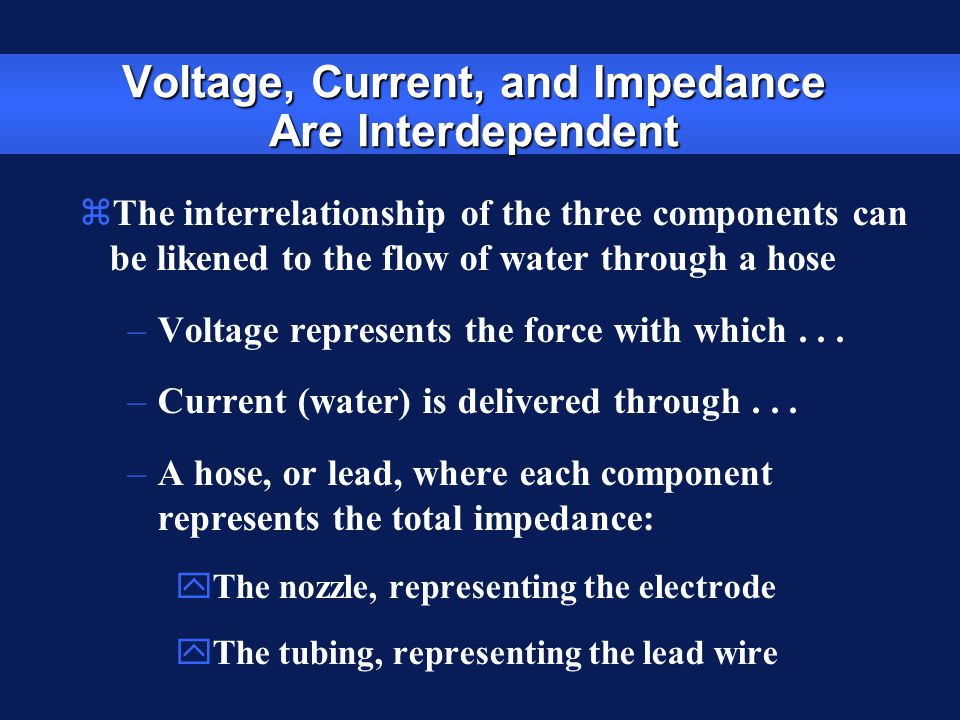 Voltage, Current, and Impedance Are Interdependent