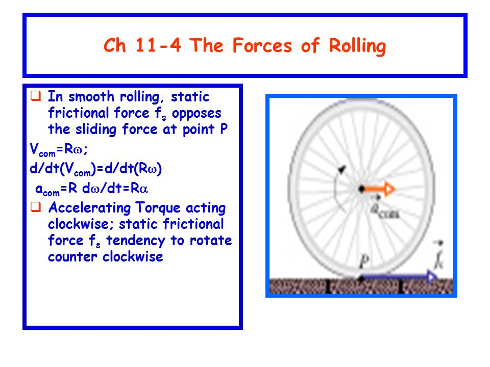 Ch 11-4 The Forces of Rolling