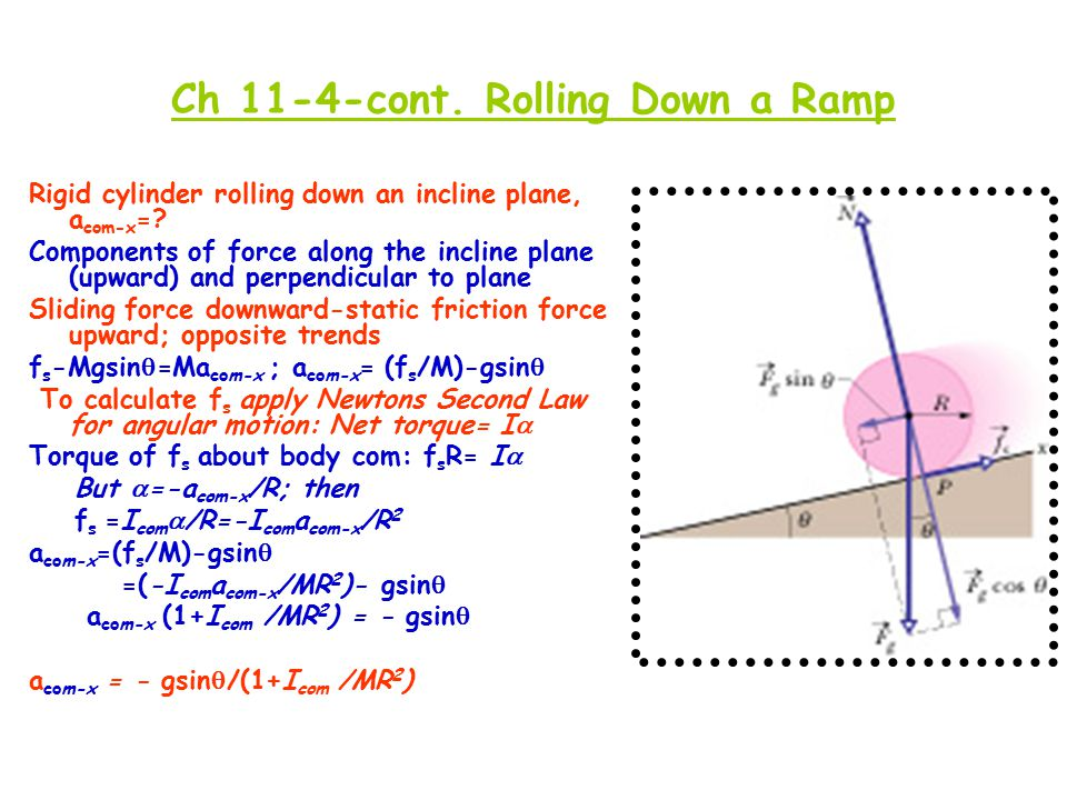 Ch 11-4-cont. Rolling Down a Ramp