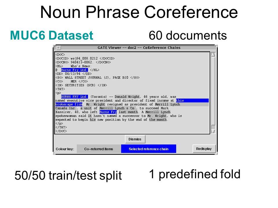 Noun Phrase Coreference