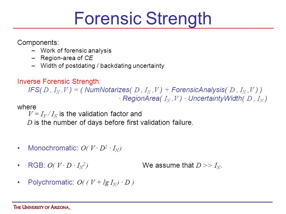 Forensic Strength Components: Inverse Forensic Strength: