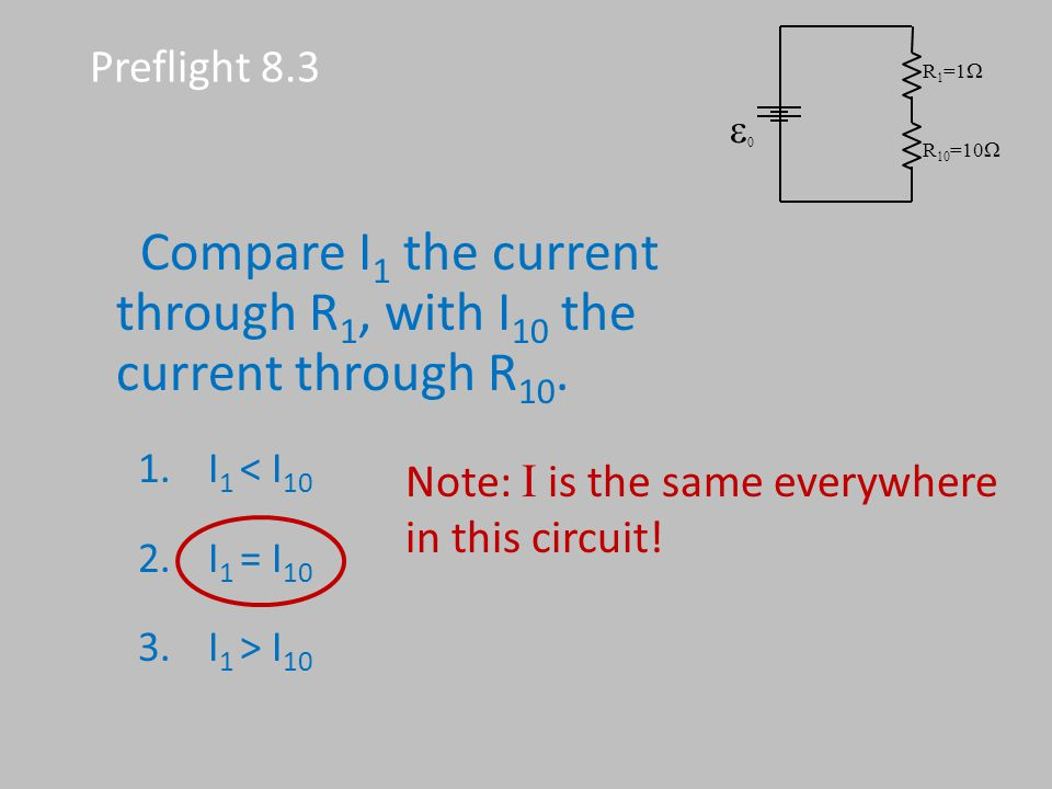 Note: I is the same everywhere in this circuit!
