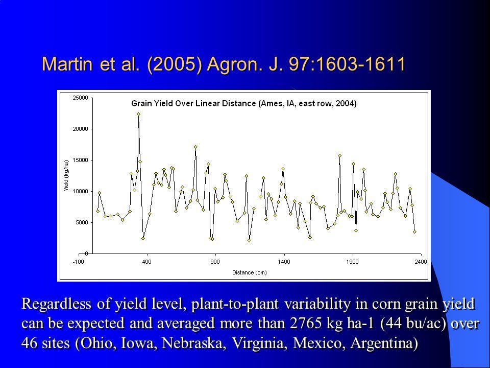 Martin et al. (2005) Agron. J. 97:1603-1611