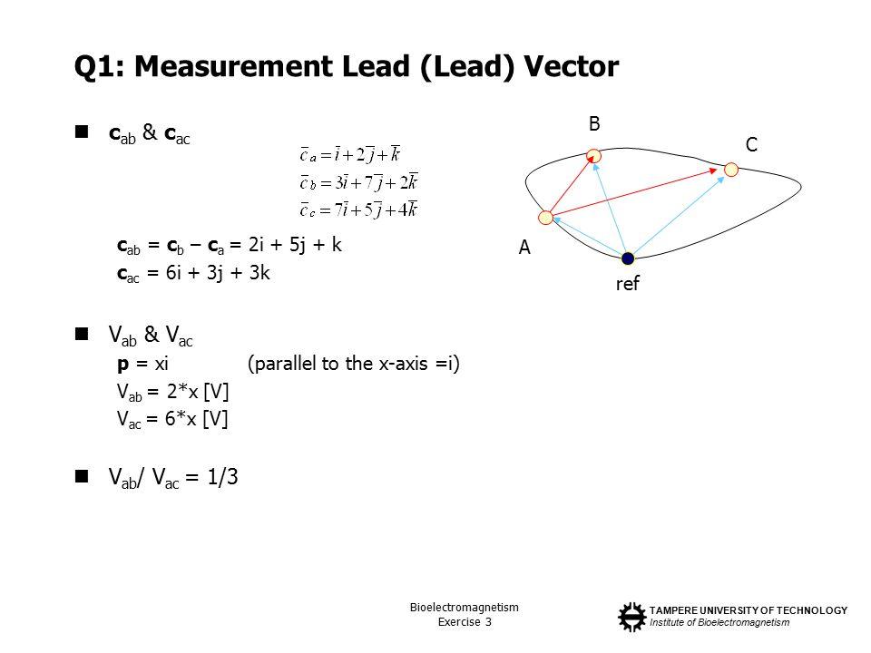 Q1: Measurement Lead (Lead) Vector