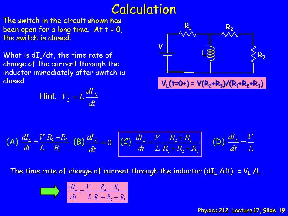 Calculation Hint: (B) (C) (D)