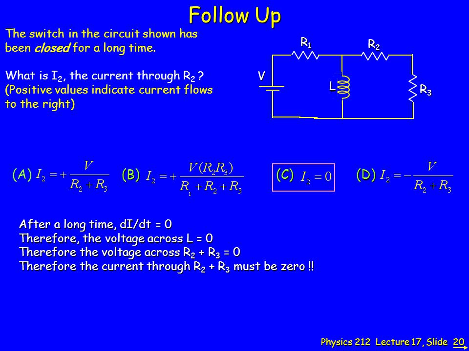 Follow Up The switch in the circuit shown has been closed for a long time.