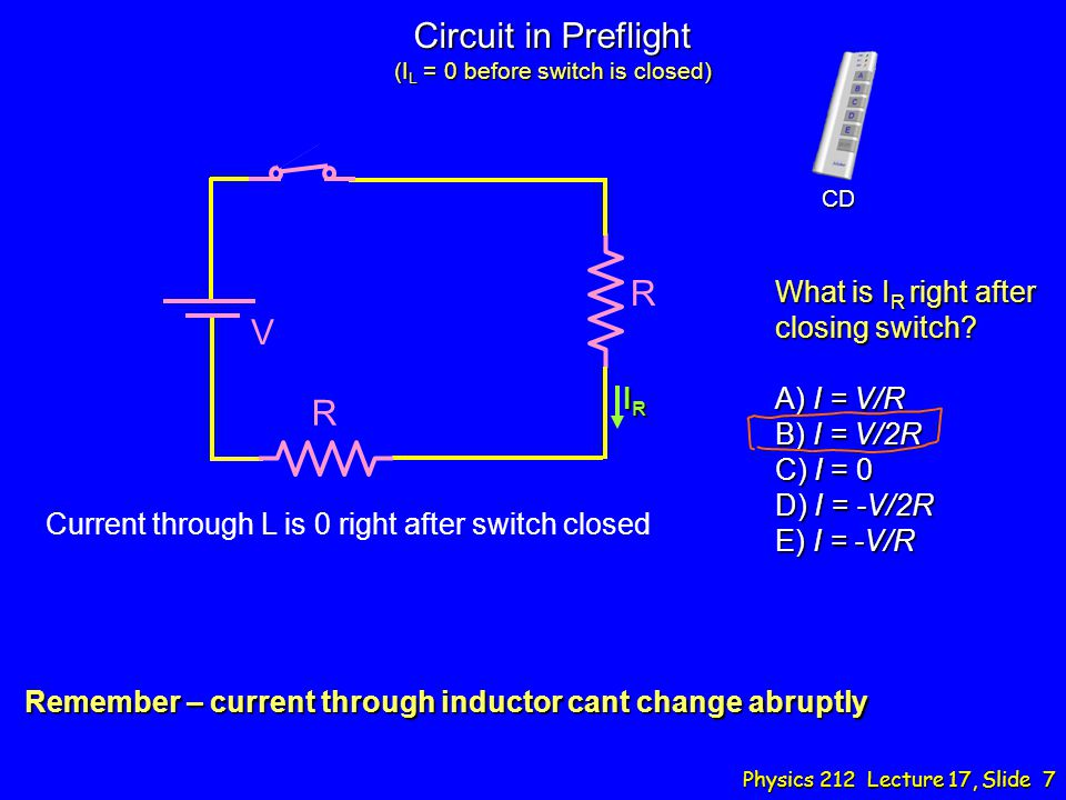 Circuit in Preflight (IL = 0 before switch is closed)