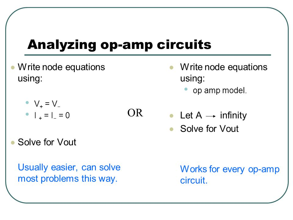 Analyzing op-amp circuits
