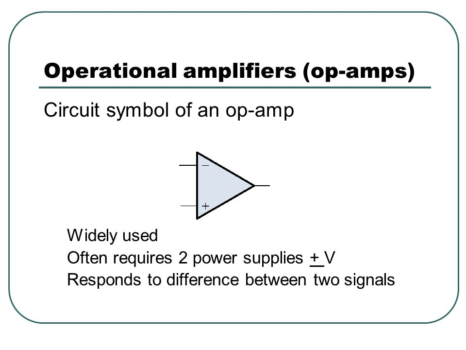Operational amplifiers (op-amps)