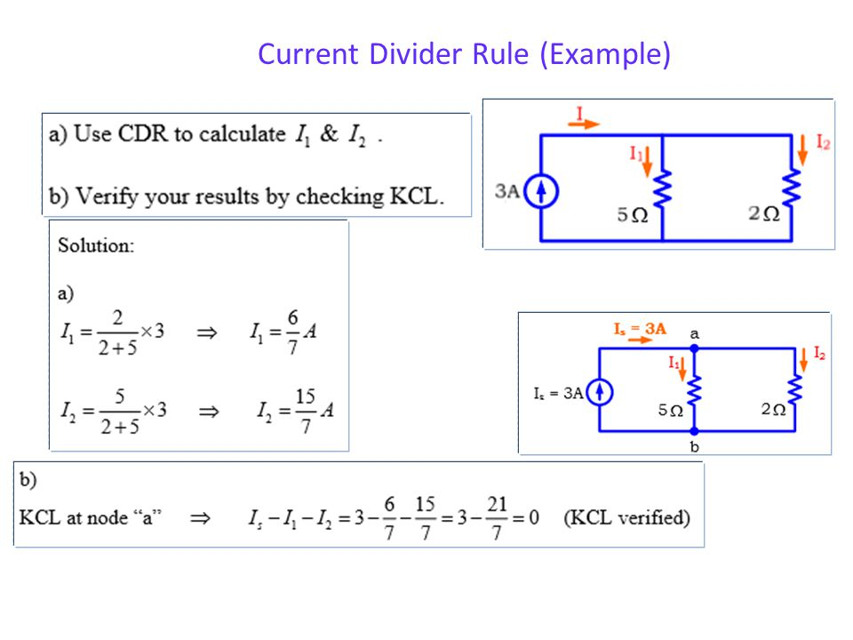 Current Divider Rule (Example)