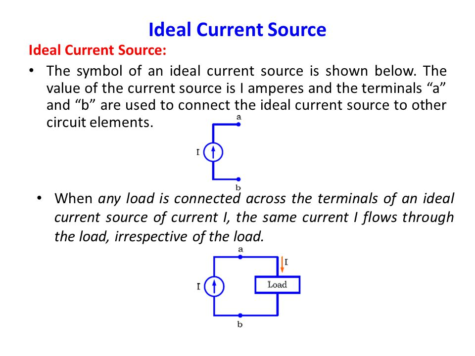 Ideal Current Source Ideal Current Source: