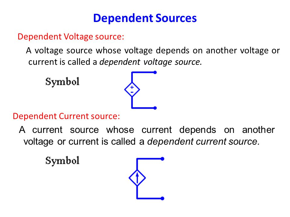 Dependent Sources